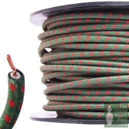 7mm HT Ignition Lead Cable - Wire Core Cotton Braided GRF ...