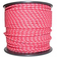 1M Cotton Braided Automotive Electrical Wire Cable 18 Gauge Red & White Fleck