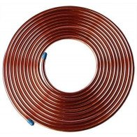 """1M Fuel Malleable Copper Petrol Pipe.1/4"""" OD x 0.194 ID Vintage ClaSSic Car"""