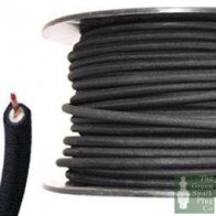 7mm HT Ignition Lead Cable - Wire Core Cotton Braided Black