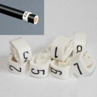 1 Pack -  8mm Cable Plug Lead Numbers - Markers 1 to 8 - White