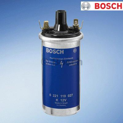 Image of 1x 0221119027 Bosch Ignition Coil 12V