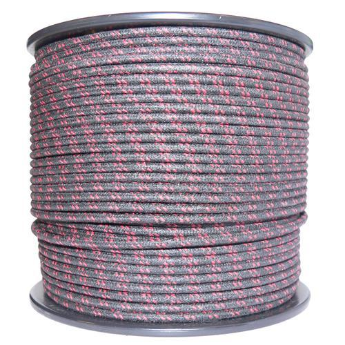 Image of 1M Cotton Braided Automotive Electrical Wire Cable 18 Gauge Black & Red Fleck
