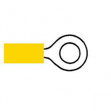 Durite 0-001-22 Terminal Yellow 6.40mm Ring Pack of 10