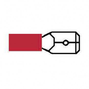 Durite 0-001-26 Terminal Red 6.30mm Blade Pack of 10