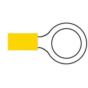 Durite 0-001-39 Terminal Yellow 13.00mm Ring Pack of 10