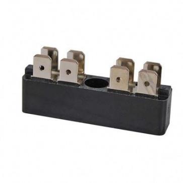 Durite - Bus Bar 2 x 4 way 6.3mm Blade Terminal 25 amp Bg1 - 0-005-52