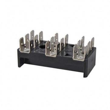 Durite - Bus Bar 3 x 6 way 6.3mm Blade Terminal 25 amp Bg1 - 0-005-53