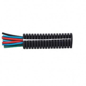 1 Metre Durite - Convoluted Split Black PolypropyleneTubing 22NW - 0-328-22