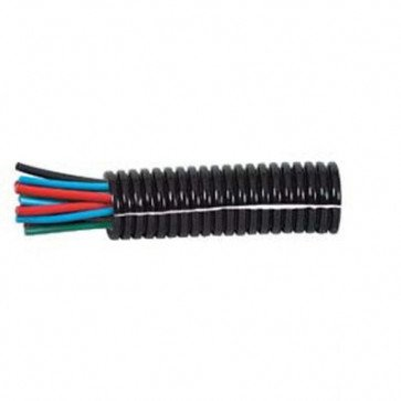 1 Metre Durite - Convoluted Split Black Nylon Tubing 13 NW - 0-331-13