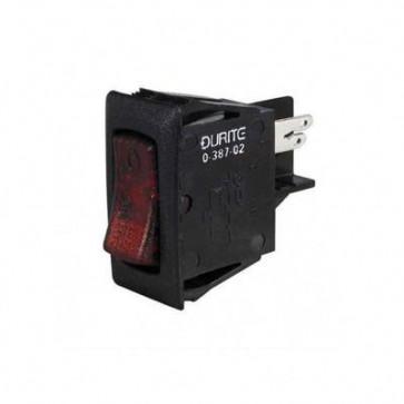 Durite - Circuit breaker 12/24 volt illuminated Switch 8 amp Bg1 - 0-387-08