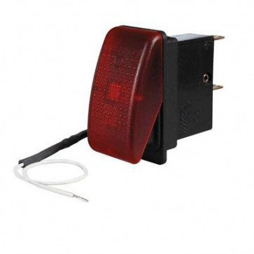Durite - Rocker Red Illuminated - 0-389-85