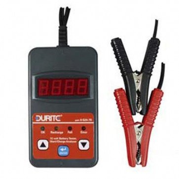 Durite - Battery Tester with Start/Charge Analyzer 12 volt Cd1 - 0-524-70