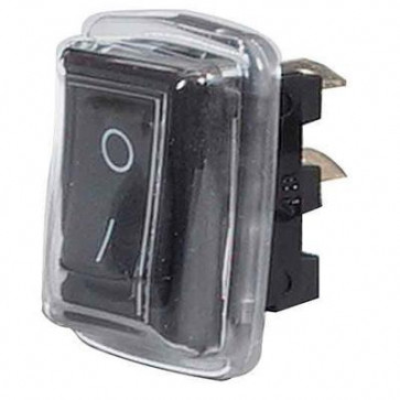 Durite - Switch Rocker On/Off Black with Cover Cd1 - 0-530-51