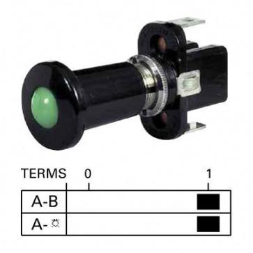 Durite - Switch Push/Pull Illuminated White 12 volt Cd1 - 0-597-07