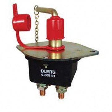 Durite - Battery Switch 250 amp Double Pole with Removable Key Bg1 - 0-605-51