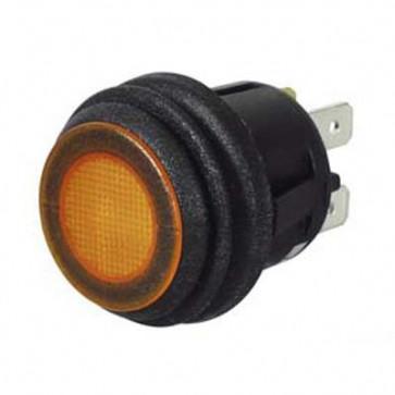 Durite - Switch Push on/Push off Amber LED 12/24 volt Cd1 - 0-690-60