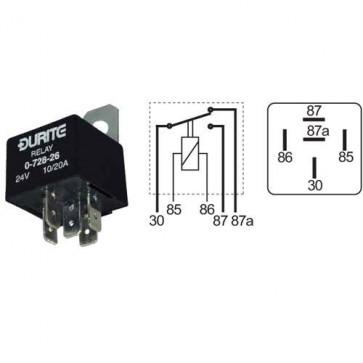 Durite - Relay Mini Change Over 20/30 amp 12 volt Cd1 - 0-728-12