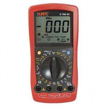Durite - Multimeter Digital Automotive Hand Held Cd1 - 0-798-60