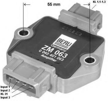 Beru ZM063 / 0040401063 Ignition Module Replaces 4A0 905 351 A