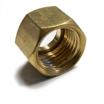 "Solder Nut Copper Petrol Fuel Pipe 3/8"" BSP - For 3/8 OD Tube"
