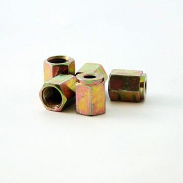 5 x Steel Female Brake Pipe Tube Tubing Nut For 3/16 Pipe 10mm x 1mm Thread