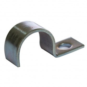 12mm x 1 Mild Steel with Zinc Plated CR3 Finish Half SADDLE Clamp LIGHT 10 Pack