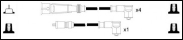 Remax HT Ignition Leads Cable Set Copper Core Cable 5 Leads BMW 3