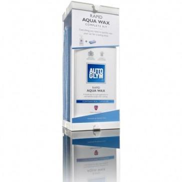 Autoglym Rapid Aqua Wax Complete Kit Wax + Microfibre Cloths Carnauba Based Wax