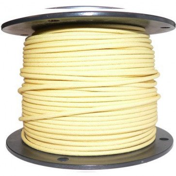 1M Cotton Braided Automotive Electrical Wire Cable 16 Gauge Yellow