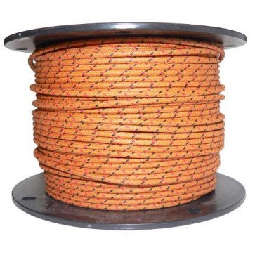 1M Cotton Braided Automotive Electrical Wire Cable 16 Gauge Brown & Black Red Fl