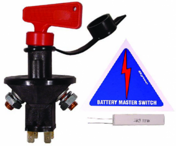 BMS003 FIA Battery Master Switch (BMS003) with Sticker