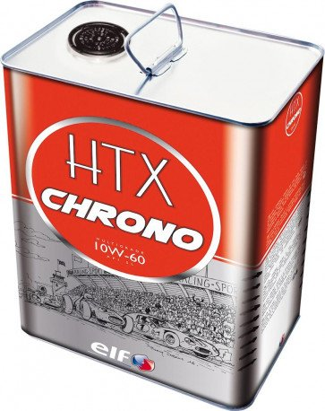 ELF TOTAL CLASSIC RACE CAR ENGINE OIL HTX CHRONO MULTIGRADE 10W60 5 LITRE TIN