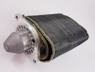 Powerlite Thermal Heat Shield Cover Carbon Starter Motor Wrap Shield Protection