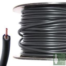 7mm HT Ignition Lead Cable - Wire Core PVC Black - 30 Meter Roll