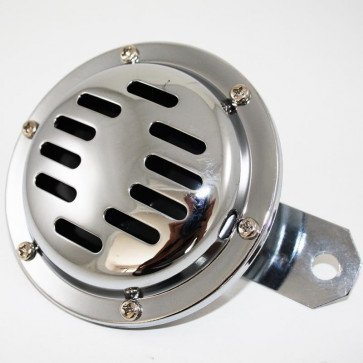 Motorcycle Horn Universal Chrome plated 6v horn 100mm diameter 90mm bracket