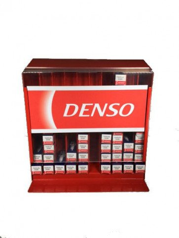 Red Denso Car Garage Wall Display Stand Spark Plug Dispenser Holds 100 Units