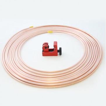 25ft Brake Copper Petrol Pipe. 3/16 OD x 0.131 ID + Mini Tubing cutter