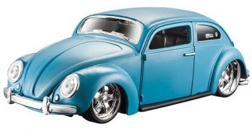 MAISTO VW BEETLE 1:24 Scale Model Toy Gift Diecast Race Play Car BLUE