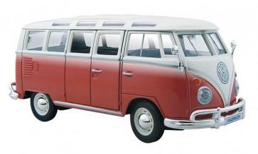 MAISTO VW SAMBA CAMPER VAN 1:24 Scale Model DieCast Classic Car Gift RED