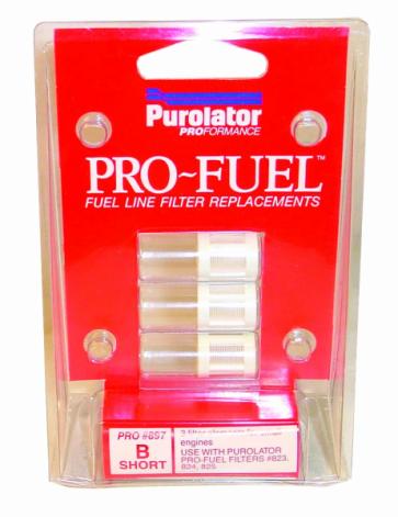 Pro-Fuel Short Filter Elements x 3, Fits Pro823 (PRO897)