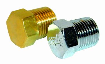 "Malpassi Guage Port Balanking Plug Brass 1/8"" NPTF (RA018)"