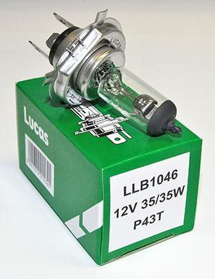 Lucas P43T Halogen Headlight Bulb 12V LLB1046 (10 Pack)