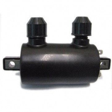 Universal 12v Twin Lead Ignition Coil - HT leads are detachable
