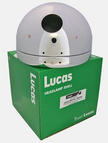 "Lucas 5-3/4"" Motorcycle Headlamp Headlight Shell + Rim Chrome 58395C Café Racer"