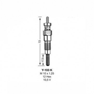 NGK Glow Plug Y-103K (6325)
