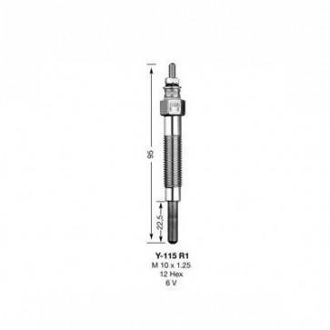 NGK Glow Plug Y-115R1 (2161)