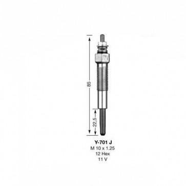 NGK Glow Plug Y-701J (5116)