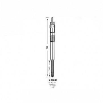 NGK Glow Plug Y-738U (5390)