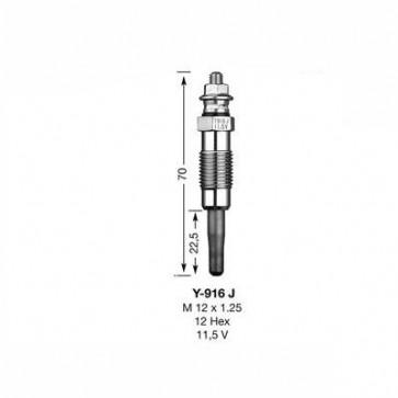NGK Glow Plug Y-916J (4454)